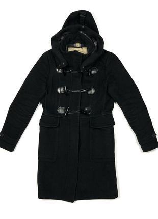 Burberry london duffle 42 шерстяное чёрное пальто