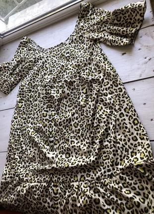 Лёгкое свободное леопардовое платье