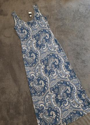 Вискозное длинное новое платье / довга сукня f&f