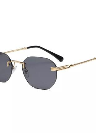 Трендовые безоправные солнцезащитные очки 2021, квадратные очки
