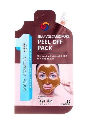 Eyenlip jeju volcanic pore peel off pack 25g маска-пленка с вулканической глиной