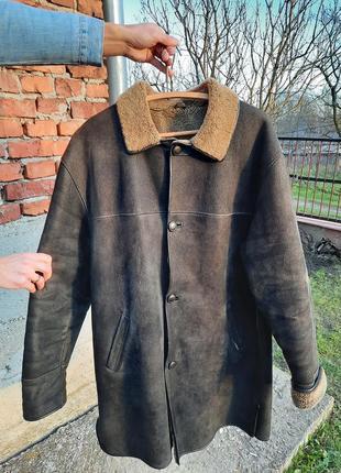 Елегантна натуральна чоловіча дублянка hornik leather 5xl