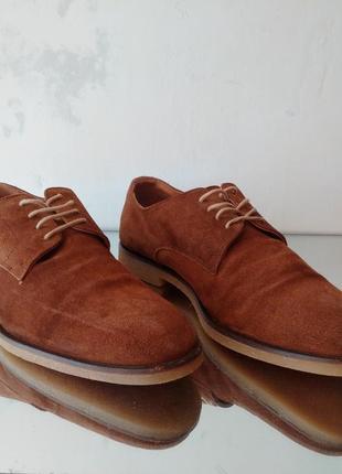 Замшевые туфли дерби dune london