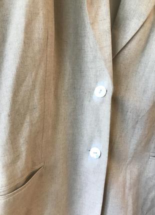 Льняной пиджак большого размера2 фото