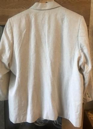 Льняной пиджак большого размера4 фото