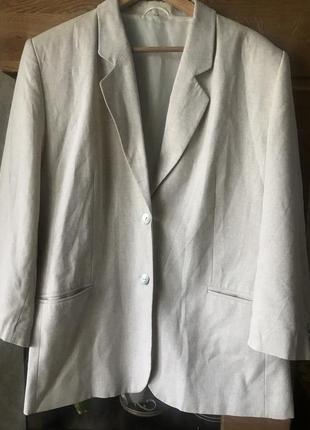 Льняной пиджак большого размера
