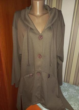 Трикотажный пиджак батал