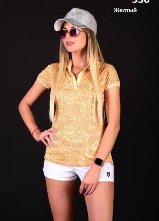 Стильная женская футболка поло, т060