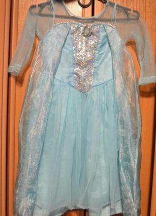 Карнавальный костюм эльза на 4-5 лет, 5-6 лет, платье эльза