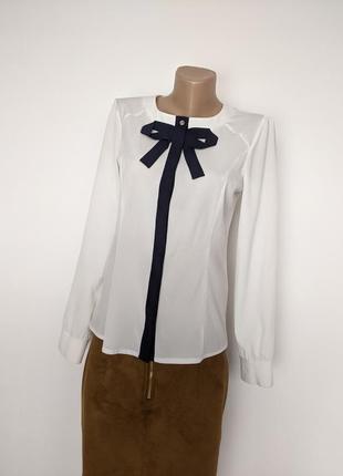 🔥🔥🔥 рубашка блузка блуза классическая с черным бантом галстуком сорочка