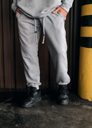 Штаны серые оверсайз stroper intruder мужские 1612429593