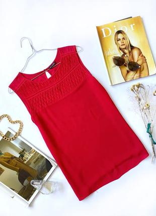 Красный топ майка блуза вискоза massimo dutti