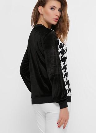 Чорно-белый черный и белый свитшот с капюшоном с принтом теплый тёплый кофта світшот3 фото