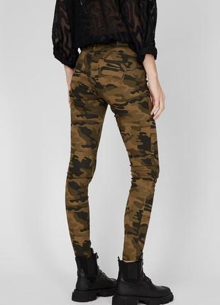 Женские камуфляжные джинсы хаки милитари coolcat 158-164