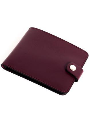 Кожаное портмоне п1-13 (бордо)
