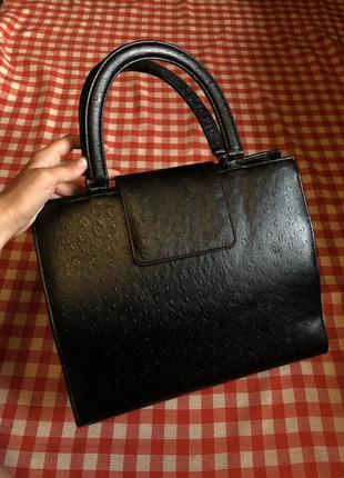 Кожаная сумка тоут винтаж италия оригинал