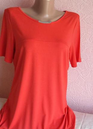 Красивая легкая футболка bianca 92 % вискоза акция 1+1 =3 на блузы , рубашки , футболки