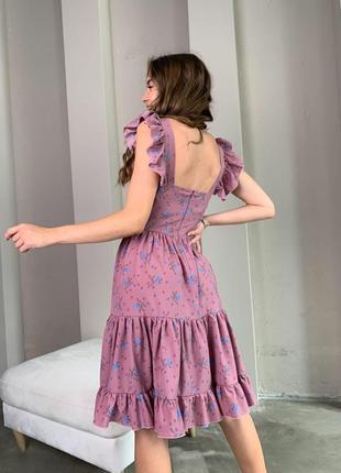 Платье в цветок сарафан 3 цвета3 фото