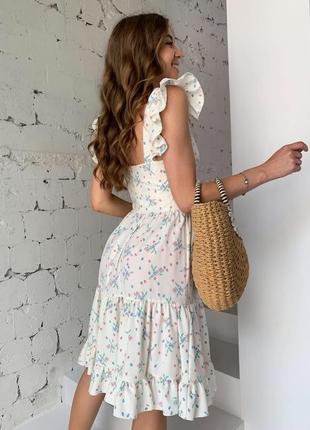 Платье в цветок сарафан 3 цвета9 фото