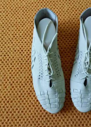 Ботинки topshop, р. 38,5-39. кожа
