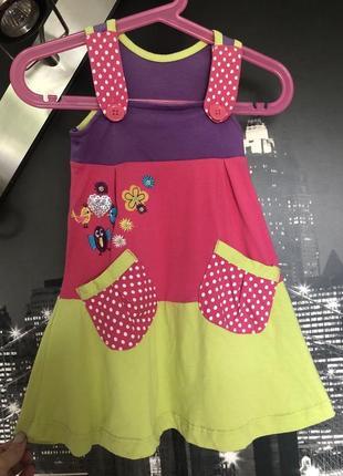 Милое детское платье сарафан