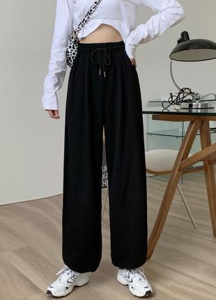 Черные спортивные штаны 5003