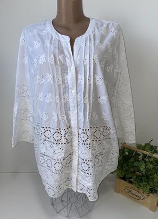 Белая блуза прошва