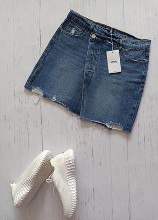 Красивая джинсовая юбка sinsay