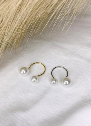 Кольцо с жемчугом, перстень з перлинками