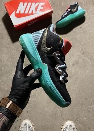Кроссовки nike kyrie 5 blue-scream green.