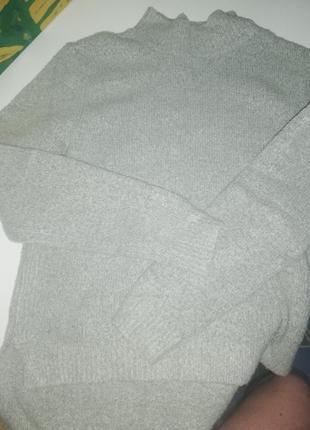 Серый свитер с детского отдела