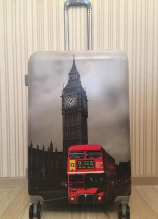 Чемодан из 100% поликарбоната! валіза дорожная сумка на колесах