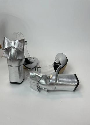 Шкіряні туфлі босоніжки кожаные туфли босоножки