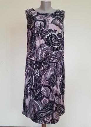 Шикарное вечернее коктейльное трикотажное платье с блестками f&f