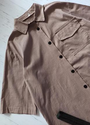 Платье-рубашка цвет мокко4 фото