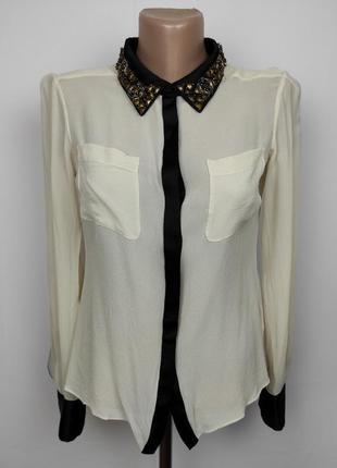 Блуза шелковая шикарная оригинальная karen millen uk 10/38/s