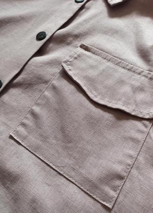 Платье-рубашка цвет мокко5 фото