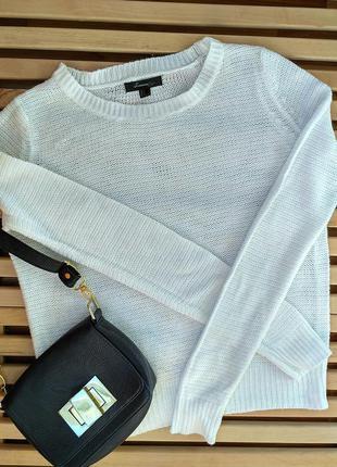 Белый легкий свитер forever 21