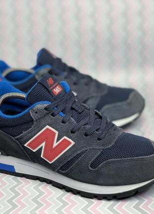 Оригинальные замшевые кроссовки new balance 565 (39-40р 25см)