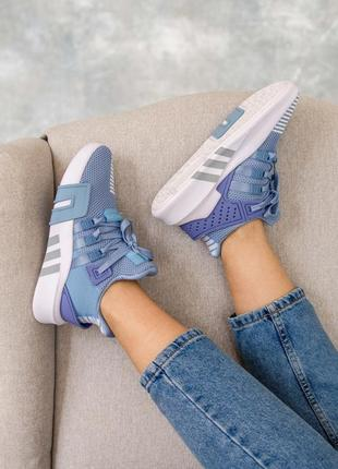 Женские кроссовки adidas equipment basketball blue / синие7 фото