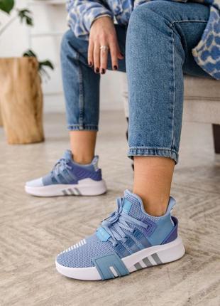 Женские кроссовки adidas equipment basketball blue / синие4 фото