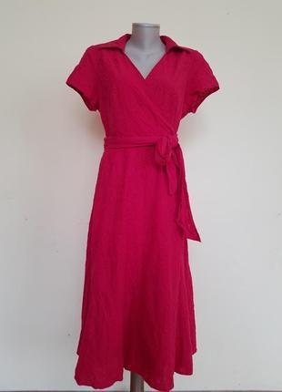 Шикарное качественное хлопковое платье шитье m&co