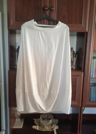 Длинная хлопковая трикотажная юбка-баллон италия батал  labo.art
