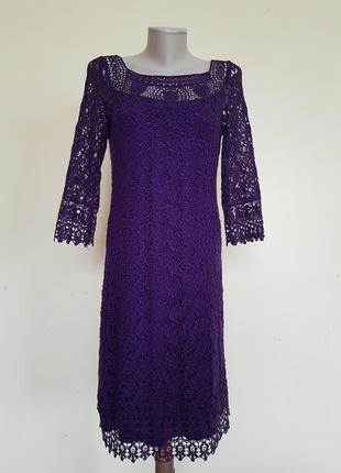 Шикарное нарядное вечернее гипюровое платье kaliko