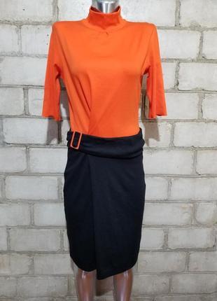Спорт шик брендовое дизайнерское яркое платье футболка из линейки marc cain sports