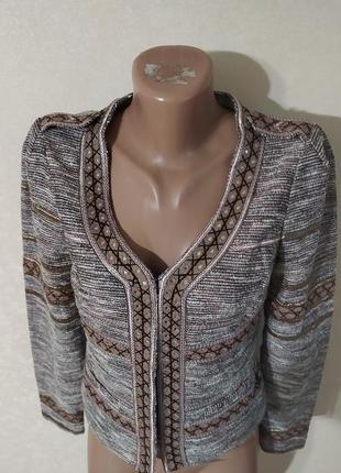 Пиджак жакет женский красивый интересный латэ бежевый коричневый капучино блестящий5 фото