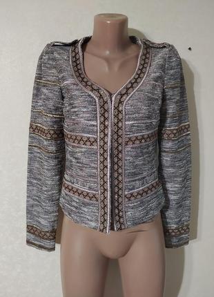 Пиджак жакет женский красивый интересный латэ бежевый коричневый капучино блестящий2 фото