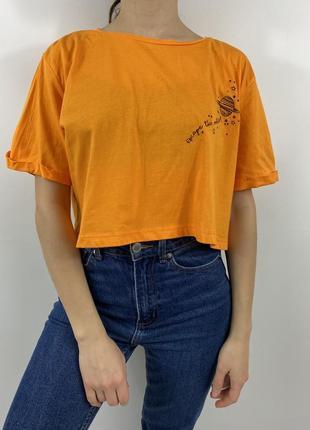 Новый женский оранжевый топ, футболка primark