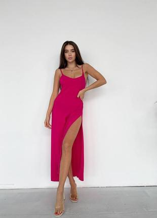 Сукня комбінація 2021 фуксія