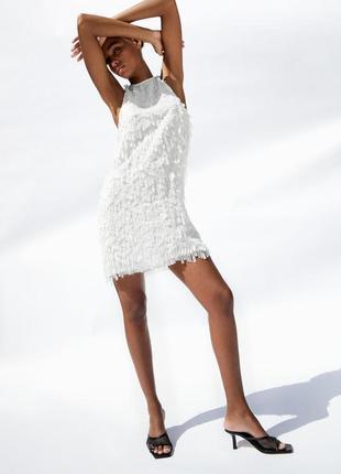 Эффектное летнее платье зара zara m
